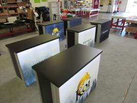 (4) MOD-1700 Backlit Counters with Tension Fabric Graphics and Locking Storage -- Image 2