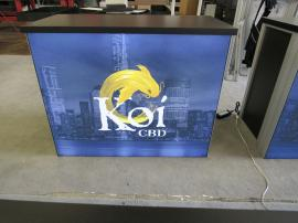(4) MOD-1700 Backlit Counters with Tension Fabric Graphics and Locking Storage -- Image 3